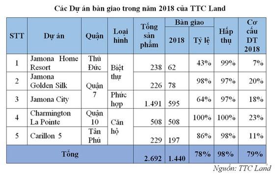 TTC Land: doanh thu, lợi nhuận 2018 lần lượt vượt kế hoạch 41% và 8% ảnh 1