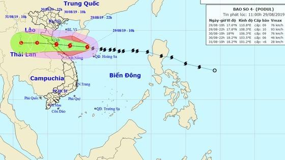 Từ sáng đến trưa mai 30-8, bão số 4 giật cấp 11 đi vào đất liền các tỉnh từ Nghệ An đến Quảng Bình ảnh 1