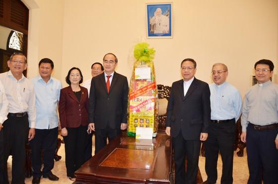 Bí thư Thành ủy TPHCM Nguyễn Thiện Nhân thăm, chúc tết các tổ chức, chức sắc tôn giáo ảnh 1