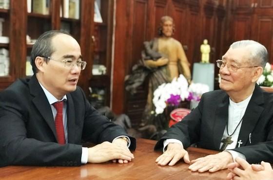 Bí thư Thành ủy TPHCM Nguyễn Thiện Nhân thăm, chúc tết các tổ chức, chức sắc tôn giáo ảnh 4