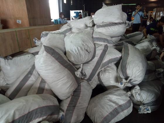 Phát hiện 7,3 tấn nghi vảy tê tê ngụy trang trong các khúc gỗ ở cảng Cát Lái ảnh 3
