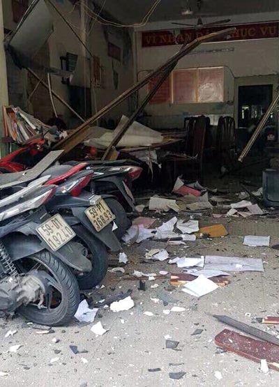 Vụ nổ trước trụ sở Công an phường 12, quận Tân Bình: Tạm giữ 1 nam thanh niên  ảnh 1