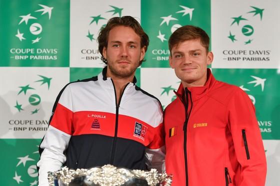 Dsvid Goffin (phải) và Lucas Pouille