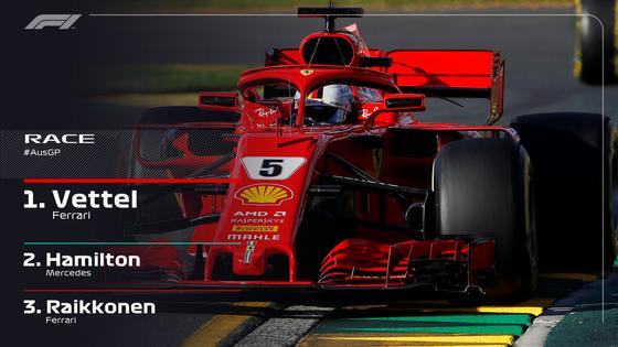 Đua xe F1: Vettel khai vị mùa giải mới bằng chiến thắng ở Melbourne ảnh 1