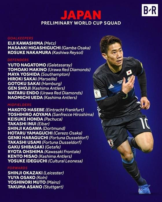 World Cup 2018: Các đội tuyển công bố DS cầu thủ ảnh 30