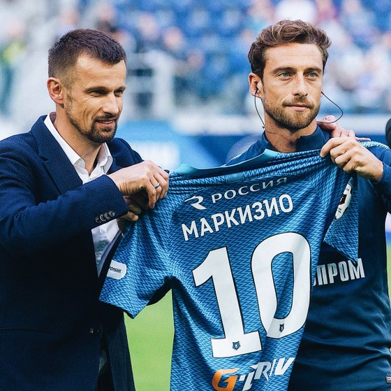 Marchisio mặc áo số 10 ở Zenit St.Petersburg