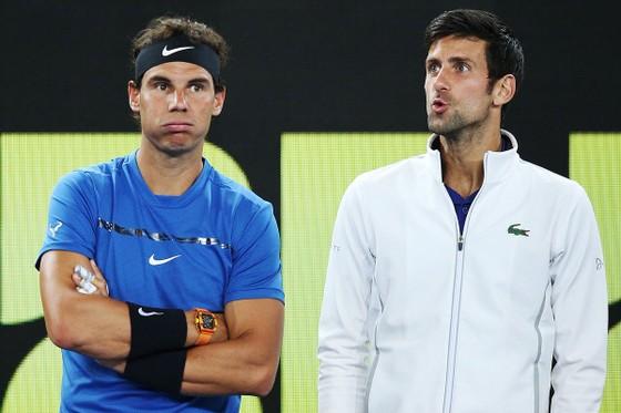 """Nadal (trái) rút lui, Djokovic tránh phải """"tương tàn"""" với Federer từ quá sớm"""