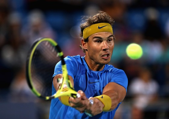Nadal trong trận thua Anderson