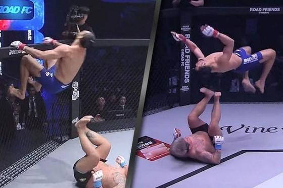 Đấu trường MMA: Bay lộn như phim kungfu Trung Quốc, võ sĩ Brazil thống trị Nhật – Hàn  ảnh 2