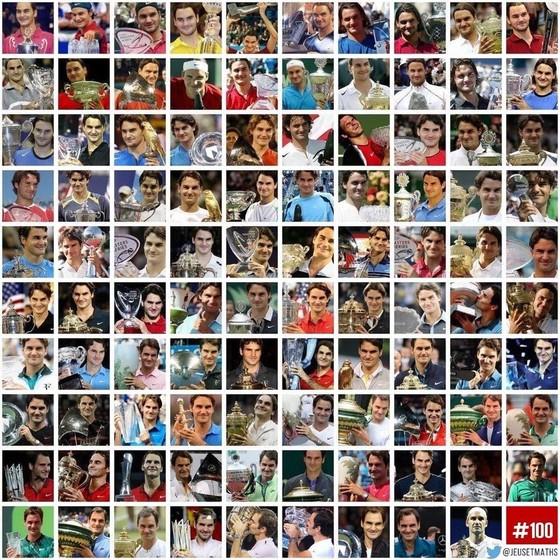 Roger Federer: Cột mốc thứ 100 và những con số ảnh 1