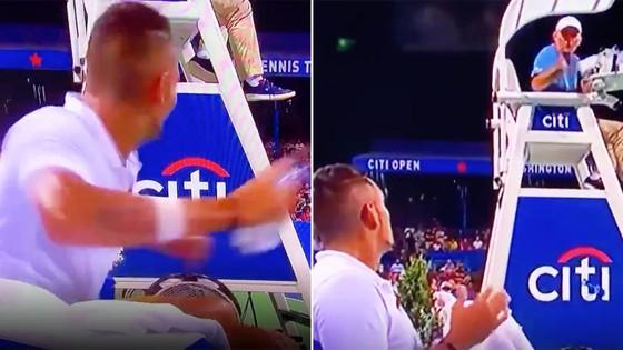"""Kyrgios có thể """"thổi bay"""" Federer - Nadal - Djokovic, nhưng trước mắt chỉ... thổi bay chai nước ảnh 2"""