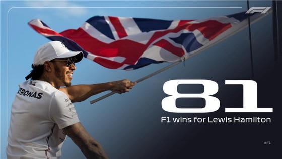 Lewis Hamilton đã có 81 chiến thắng chặng ở đường đua F1