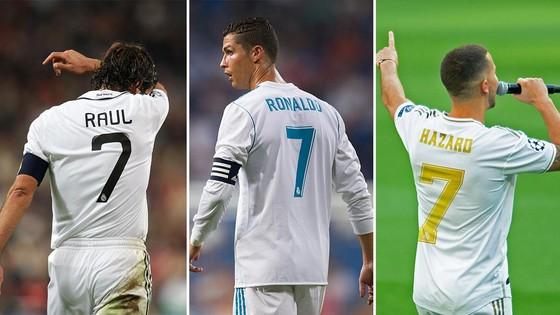 Hazard sẽ mặc áo số 7 của Raul và Ronaldo tại Real ảnh 1