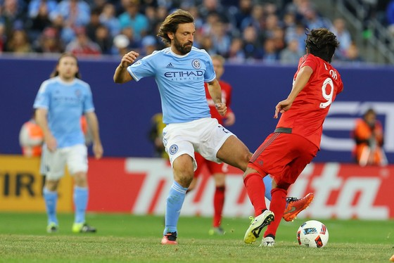 Andrea Pirlo trong màu áo New York City. Ảnh: Getty Images.