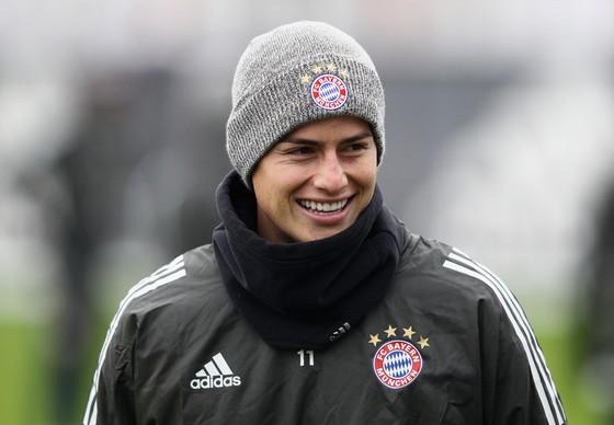 James Rodriguez đang rất hạnh phúc ở Munich. Ảnh: Getty Images.
