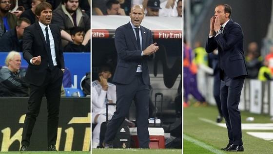 Antonio Conte, Zinedine Zidane, Max Allegri có thể sẽ hoán đội vị trí của nhau trong mùa hè. Ảnh: Getty Images.