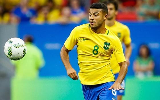Rafinha trong màu áo Brazil. Ảnh: Getty Images.