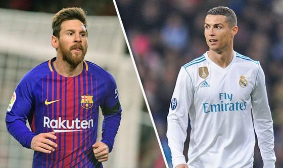 Leo Messi (Barcelona) và Cristiano Ronaldo (Real Madrid)