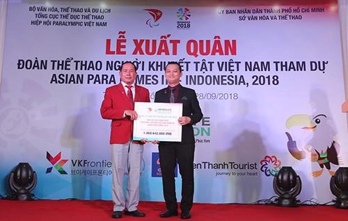 Lễ xuất quân đoàn thể thao khuyết tật Việt Nam 2018: Chỉ tiêu đoạt 5 HCV  ảnh 1