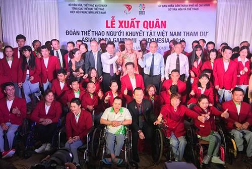 Lễ xuất quân đoàn thể thao khuyết tật Việt Nam 2018: Chỉ tiêu đoạt 5 HCV  ảnh 3