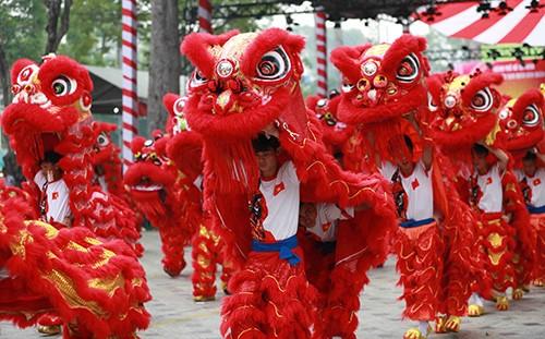 108  lân đồng diễn lập kỷ lục Guinness Việt Nam  ảnh 1