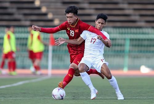 Khoảnh khắc chiến thắng của U22 Việt Nam trước U22 Philippines ở trận ra quân ảnh 2
