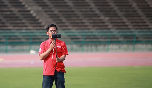 Phóng viên Indonesia do thám tuyển U22 Việt Nam tập trước trận bán kết ảnh 3