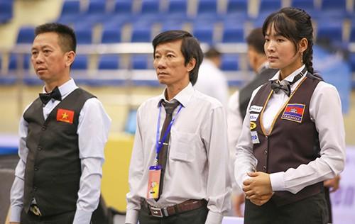 Cơ thủ xinh đẹp Srong Pheavy thể hiện tài năng ở giải Billiards carom châu Á 2019 ảnh 1