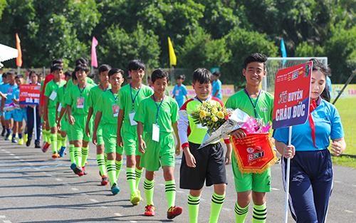 Quang cảnh lễ khai mạc giải thiếu niên nhi đồng - Cúp truyền hình BRT 2019. Ảnh: Dũng Phương