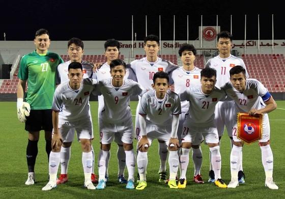 Đội hình xuất phát của đội tuyển Việt Nam. Ảnh: ĐOÀN NHẬT