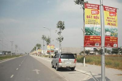 Cờ Phướn Tại Dự Án Đất Nền Long An, Khu Đô Thị Nam Long, Huyện Bến Lức,  Tỉnh Long An.