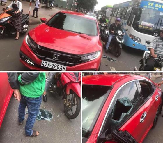 Nhà sư ngang nhiên đập ô tô vì không cho vượt ảnh 2