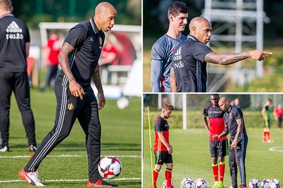 Thierry Henry cần mẫn với công việc ở đội tuyển Bỉ.