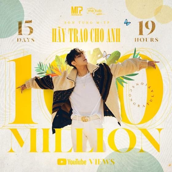 """MV """"Hãy trao cho anh"""" của Sơn Tùng M-TP cán mốc 100 triệu view ảnh 1"""
