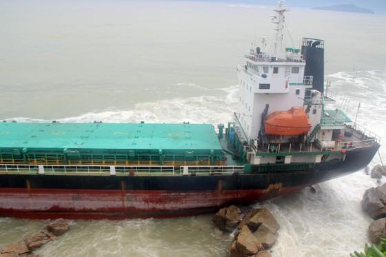 Xử lý sự cố tràn dầu ở rò rỉ ở 9 tàu hàng bị nạn tại vùng biển Quy Nhơn  ảnh 3