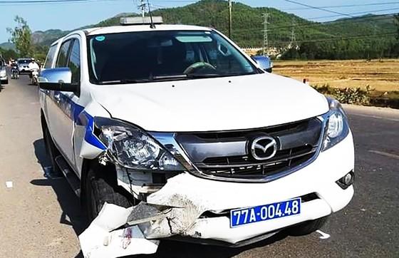 Xe của CSGT tỉnh Bình Định tông chết người trên QL19 ảnh 2