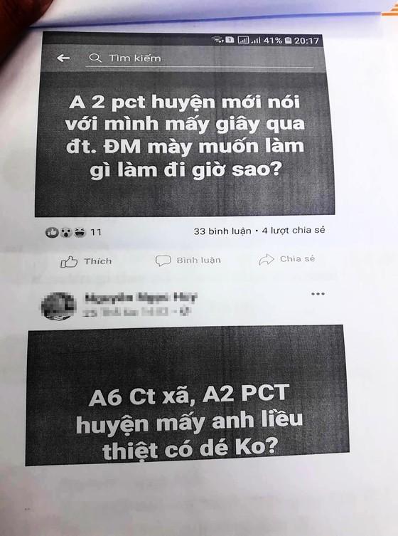"""Cho rằng bị """"xúc phạm"""" trên facebook, Phó Chủ tịch huyện đề nghị công an xử lý ảnh 2"""