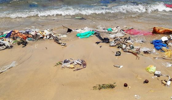 """Cận cảnh bãi biển đẹp như tranh bị """"đầu độc"""" bởi rác thải ảnh 5"""