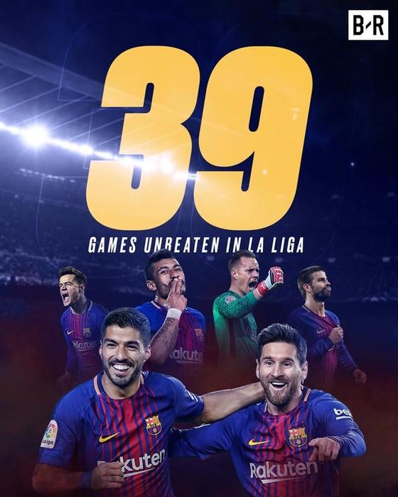 Suarez, Umtiti lập công, Barca xô đổ kỷ lục ảnh 1