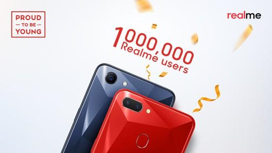 Realme cán mốc 1 triệu người dùng tại thị trường Ấn Độ