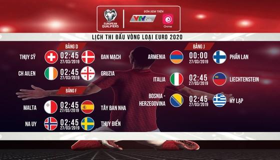 Lịch trực tiếp vòng loại Euro 2020 trên kênh VTVcab và