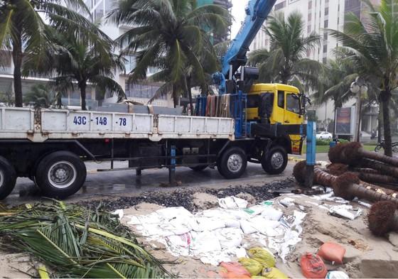 Căng dây, cắm biển báo nguy hiểm tại bờ biển Đà Nẵng ảnh 1