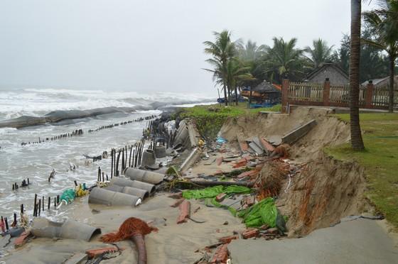 Bờ biển Đà Nẵng, Quảng Nam sạt lở nghiêm trọng do mưa to, gió lớn ảnh 2