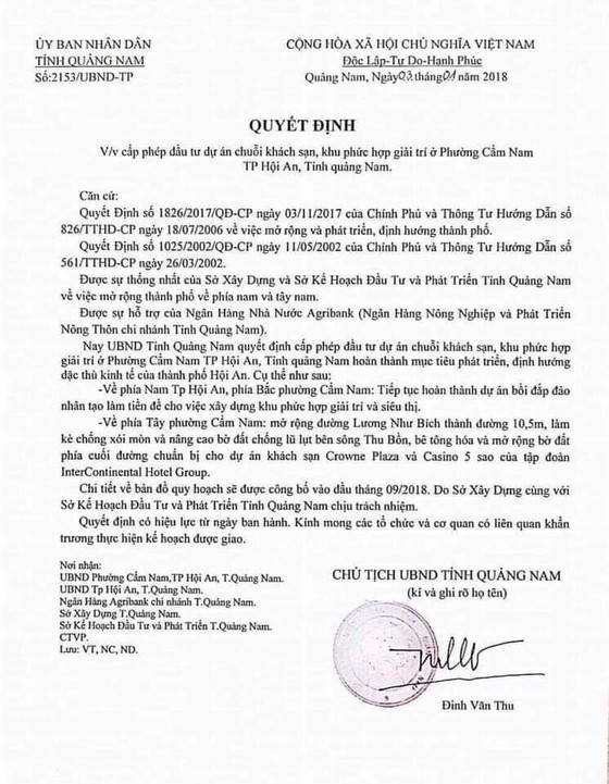 Phát hiện văn bản giả chữ ký chủ tịch UBND tỉnh Quảng Nam ảnh 1