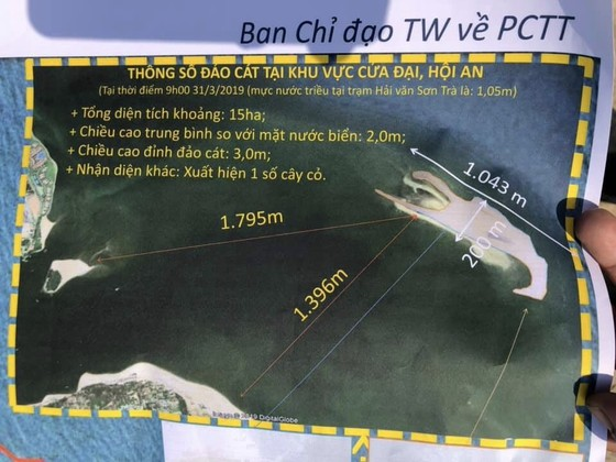 Cồn cát nổi bất thường tại biển Cửa Đại: Tăng kích thước cả chiều dài lẫn chiều rộng ảnh 1