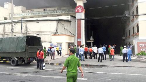 Cháy lớn tại Khu công nghiệp Trà Nóc, Cần Thơ ảnh 1