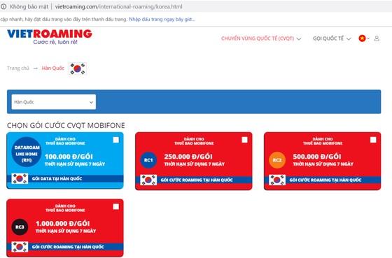 Dễ dàng tìm kiếm và đăng ký gói cước chuyển vùng quốc tế giá rẻ qua vietroaming.com ảnh 1