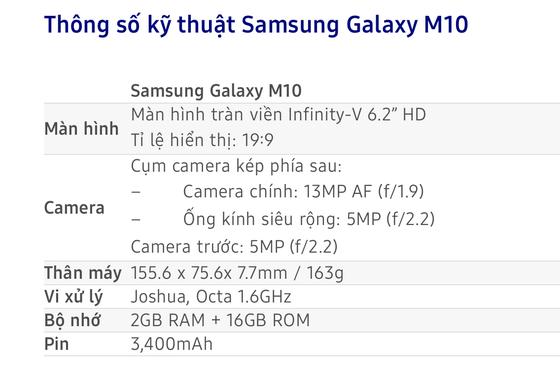 Galaxy M10 giá 3.490.000 đồng nhưng mua trên Lazada chỉ 2.790.000 đồng ảnh 3