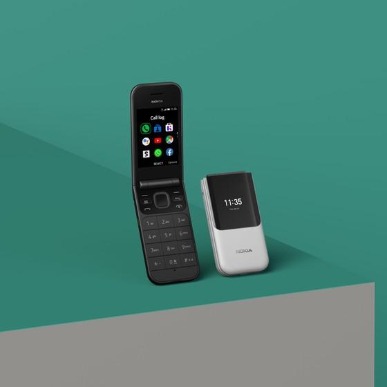 Nokia 2720 Flip điện thoại nắp gập với mạng 4G ảnh 2