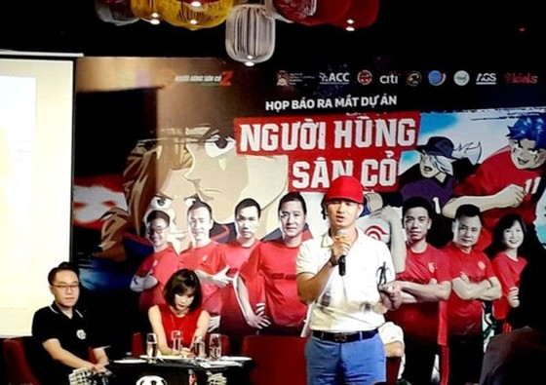 Dự án tìm kiếm, ươm mầm tài năng bóng đá được sự đồng hành với nhiều nghệ sĩ, danh thủ Việt Nam